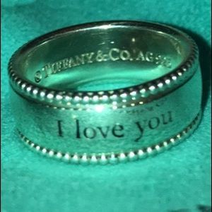 "Tiffany's ""I Love you silver ring."